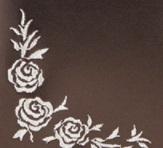 上品なバラのサイド刺繍
