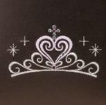 大マチにはティアラの刺繍ティアラの刺繍