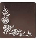 薔薇の刺繍