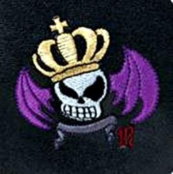 スカルキングの骸骨の刺繍