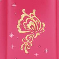 萬勇鞄のファラーシャの蝶々の刺繍